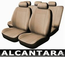 Seat Covers Leather Alcantara Beige compatible with ALFA ROMEO 156