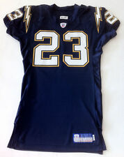 2002 San Diego Chargers Quentin Jammer Game Authentic Worn Used Rookie Jersey