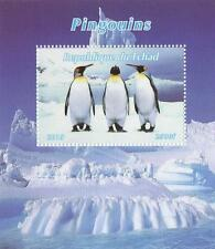 PENGUIN BIRDS REPUBLIQUE DU TCHAD 2015 MNH STAMP SHEETLET