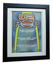 U2+Pop Mart Tour+POP+POSTER+AD+RARE ORIGINAL 1997+FRAMED+EXPRESS GLOBAL SHIP