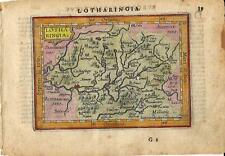 Carta geografica antica LORENA LORRAINE Metz Ortelius 1609 Old antique map