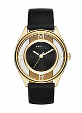 NEW Marc by Marc Jacobs MBM1376 Tether Black Leather Strap Women's Watch