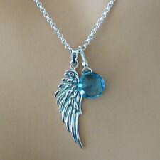 London Blue Topaz .925 Sterling Silver Angel Wing Chain Necklace U&C Sundance
