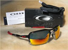 NEW OAKLEY TRIGGERMAN 9266-10 Black Ink / Ruby Iridium Sunglasses - MADE IN USA