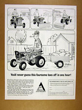 1966 Allis-Chalmers BIG-TEN Tractor man mowing plowing rolling art print Ad