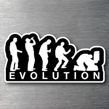 Evolution of drinking sticker Quality 7 yr vinyl water/fade proof man cave beer