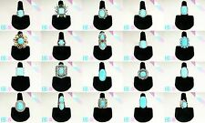 Wholesale Lot! 20 Turquoise Silver Plated Rings