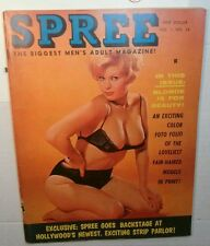 Vintage-NUDE-Girlie Pinup Magazine Spree 1961 Volume1 Number 24-very RARE-ads