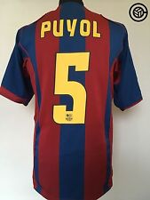 PUYOL #5 Barcelona Nike Home Football Shirt Jersey 2004/05 (M)