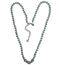 "KIRKS FOLLY  MYSTIC DREAM LONG 30"" BEADED MAGNETIC NECKLACE silvertone"