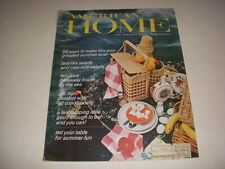 Vintage AMERICAN HOME Magazine, June, 1966, HIDEAWAY HOUSE BY THE SEA, DECOR!