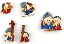 5pcs Korean Cute Children with Traditional Costume Refrigerator Fridge Magnets
