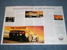 "1999 Corvette C5-R 2-Page Race Car Ad ""Practically a Race Car Out of the Box"""