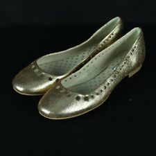 Boden Ballerina Flats Size 36 5.5 5 1/2 Ballet Shoes Rose Gold Metallic Leather