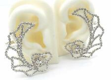 New Ear Cuff Pins Trails Upwards Pair Earrings Silver Plated