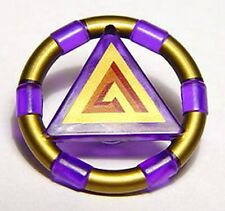 LEGO 7985 Atlantis - Treasure Key w/ Gold Bands and Triangle Pattern - Purple