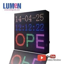 """14"""" X 14"""" LED Sign RGB 7 Color Programmable Scrolling Indoor Message Board P5"""