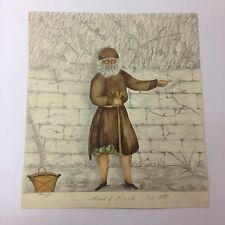 "Antique Watercolour And Sketch ""The Hermit Of St Angelo. July 1835"" J. Penberthy"