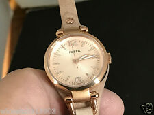 NEW OLD STOCK FOSSIL ES3262 S/S QUARTZ WOMEN'S WATCH