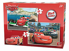 Childrens 2 IN 1 Disney Cars Movie Lightning McQueen Jigsaw Puzzle Toy 05415