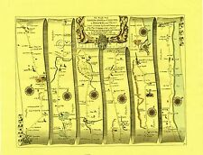 Shrewsbury & Chester to Holywell & Flint  Replica 17c OGILBY Old Road Map