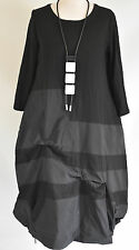 GERMAN ZEDD.PLUS quirky/lagenlook PARACHUTE  DRESS NECKLACE SIZE M/L BLACK