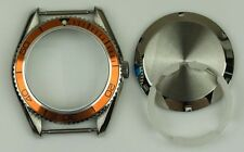 Planet ocean watch case homage stainless steel ETA 2824 orange bezel cases parts