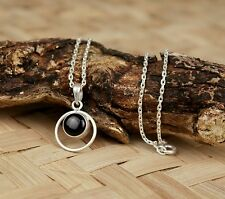 Necklace Pendant Stone Locket 925 Silver Hand Crafted With 925 Silver Chain