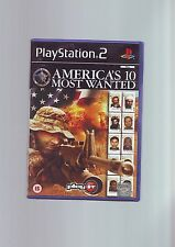 AMERICA'S 10 MOST WANTED - FPS SHOOTER PS2 GAME- FAST POST ORIGINAL COMPLETE VGC