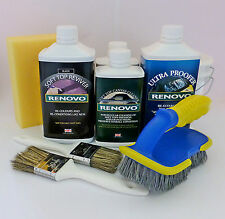 Renovo BLACK Convertible Hood Soft Top Reviver COMPLETE BIG KIT with brushes etc