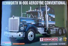 Monogram Kenworth W-900 Aerodyne Conventional, 1/16, New (2015), FS Box