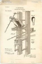 1885 Vintage REAL Patent - Wooden Shoe Making Machine - US 310216