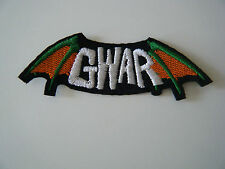GWAR PATCH Embroidered Iron On Sew On Heavy Metal Thrash Badge Band Logo NEW
