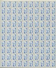Pane of 100 US Stamps 2170a - Paul Dudley White MD - Brookman Price $45
