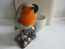 Delightful Quail Pottery Robin Ceramic Egg Cup  Boxed Ideal Gift