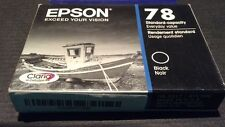 New Epson T078120 Claria HD 78 Standard Capacity Inkjet Cartridge Black