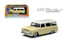 GREENLIGHT 1:43 1966 CHEVROLET SUBURBAN WITH CREAM TOP DIE-CAST YELLOW 86058