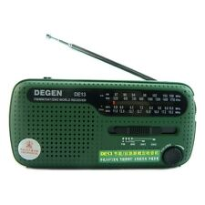 NEW DEGEN DE13 FM MW SW Crank Dynamo Solar Emergency Radio World Receiver B2C