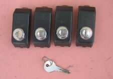 Thule 400 Tower Lock Covers Set of 4 With Locks  Key Works ALL LOCKS. no reserve