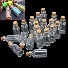 20 Boccetta Bottiglietta Mini + Tappo Turacciolo Porta Semi Perline Messaggi