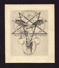 EXLIBRIS, 710a, Alfred Cossmann - Mephisto und Drudenfuß