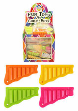 48x MINI PAN PIPES FLUTE WHISTLE 6CM MUSIC TOYS GIRL BOY LOOT PARTY BAG FILLERS