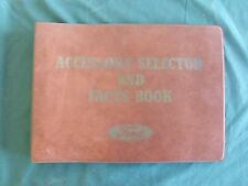 Near NOS 1963 Ford Accessory Selector and Facts Book Falcon Galaxie T-Bird
