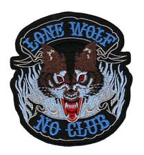 ac42 Biker Lone Wolf No Club Nomad Kutte Rocker Aufnäher Bügelbild Applikation
