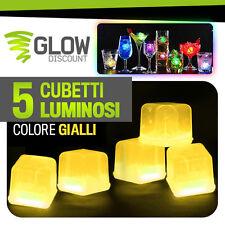 CUBETTI GHIACCIO FLUO LUMINOSO GIALLI glow starlight braccialetti luminosi 15024