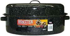 """Columbian Home 19"""", Black, Covered Oval Roaster 0510"""