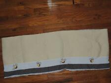 KIDSLINE CUTE AS CAN BEE VALANCE BABY NURSERY QUILTED YELLOW BROWN WHITE 58X14