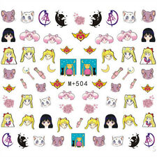 60 Assorted Japanese Sailor Moon Decals Water Nail Art Sticker for Nail Polish