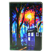 Hipster Doctor Who Tardis Leather Case Stand Cover For ipad mini 1 2 3