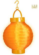 LED Stoff Lampion orange NEU - Partyartikel Dekoration Karneval Fasching